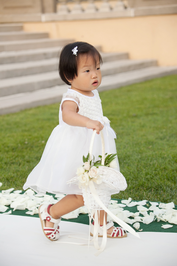 Cute Asian Flower Girl