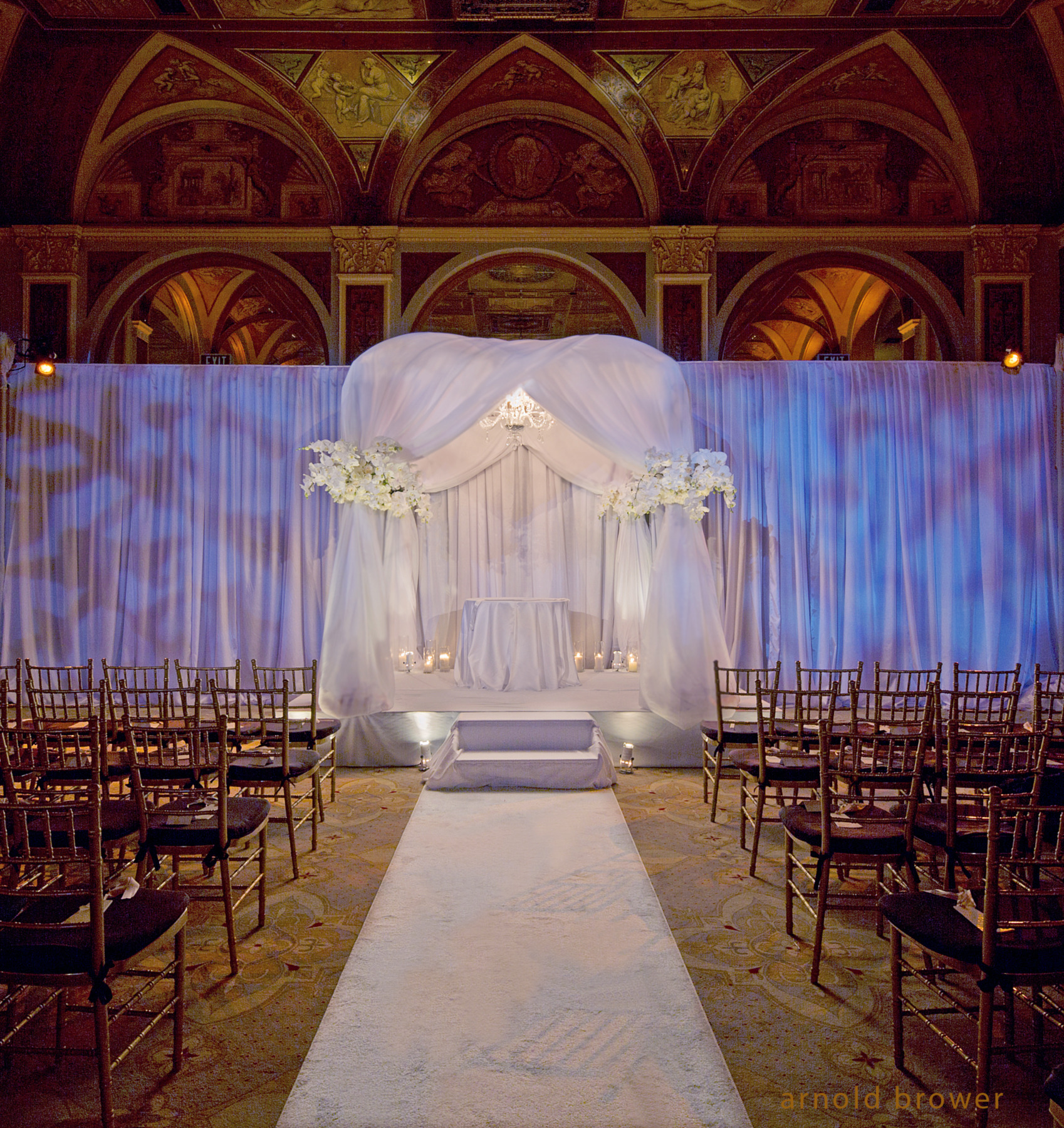 The Chuppah design at The Plaza Hotel