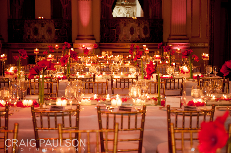 The wedding reception design