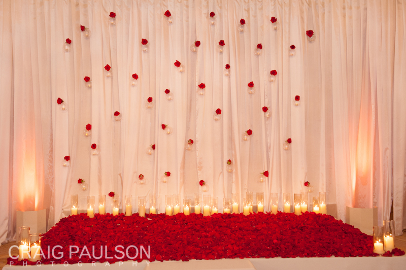 The wedding ceremony backdrop design