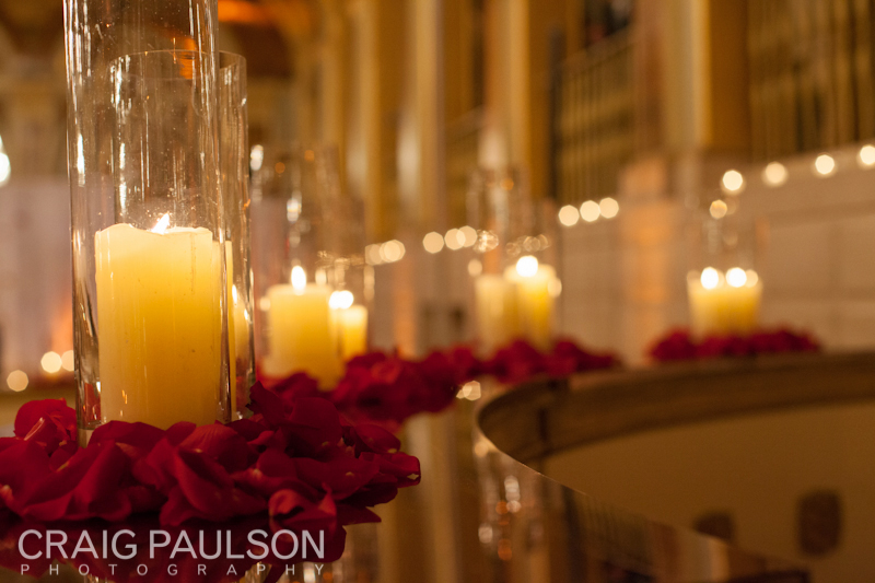 The candle panel at the ceremony room