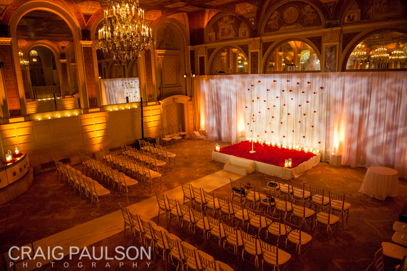 The wedding ceremony room at the Plaza Hotel