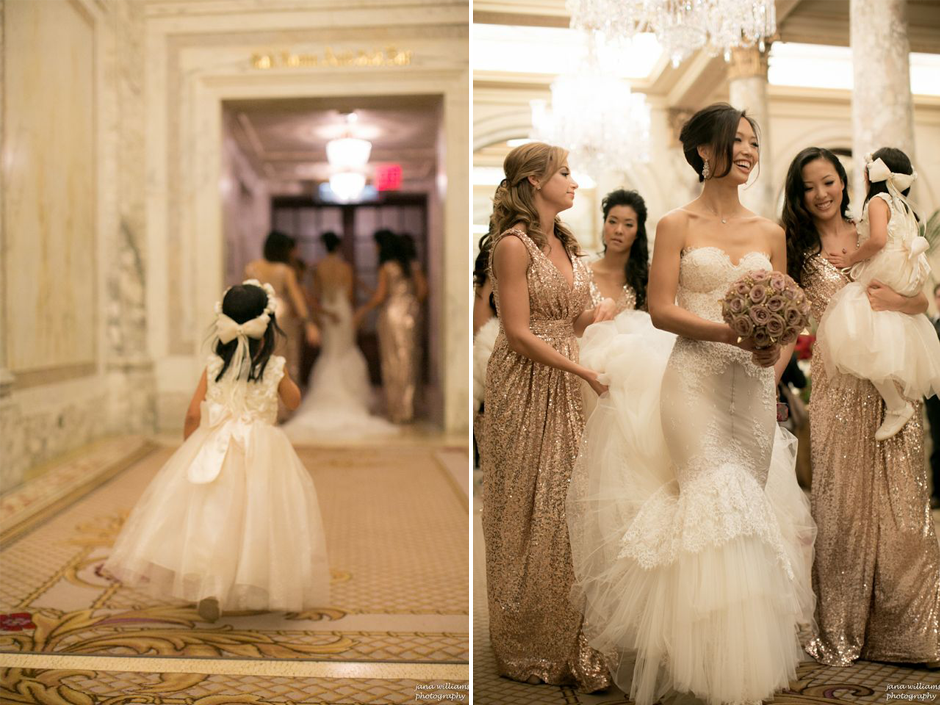 Bridal Party at the Plaza Hotel New York