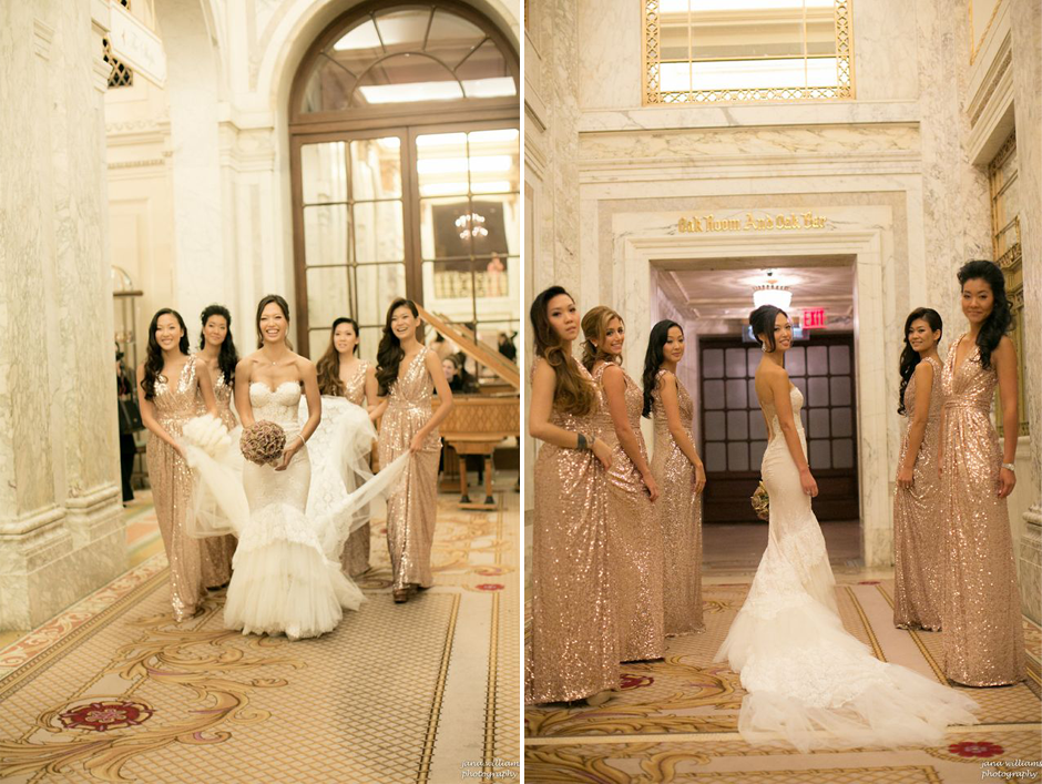 The Bridal Party at the Plaza Hotel