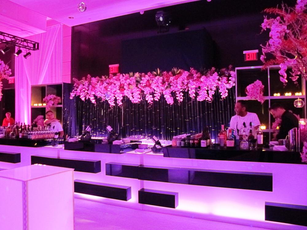 Modern Floral Design for the bar back