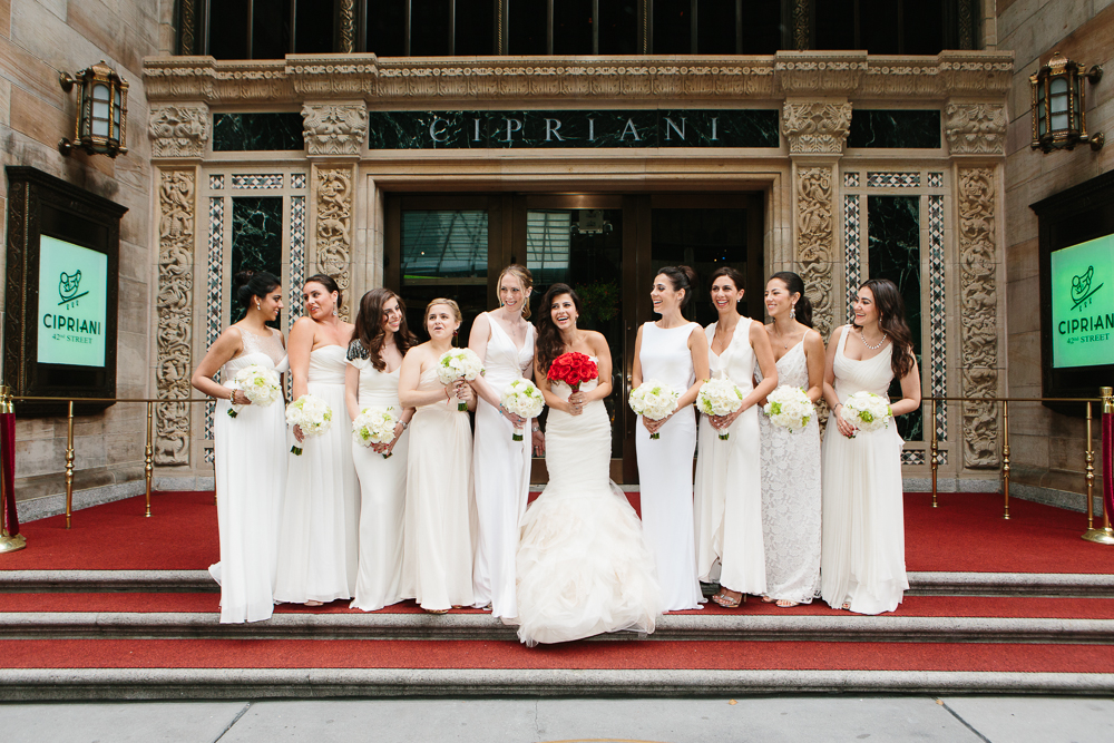 The bridal party in NYC