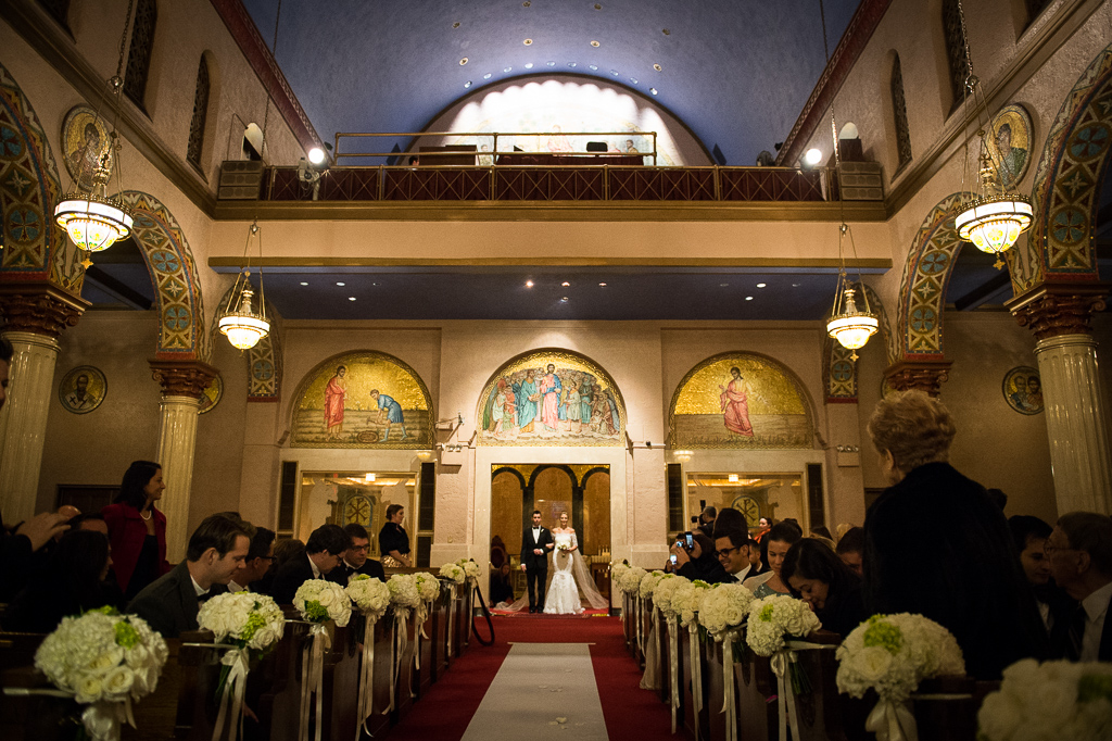 Wedding ceremony in New York City