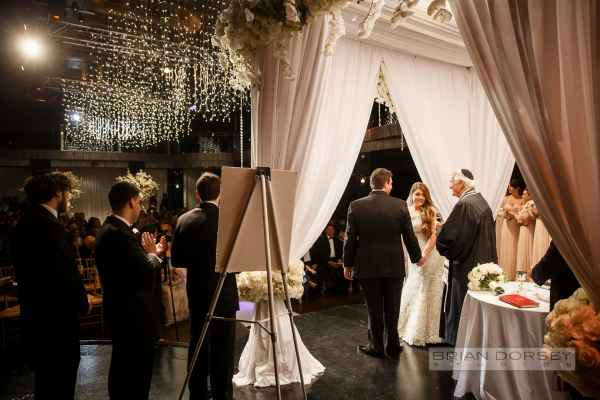 Wedding ceremony at Edison Ballroom